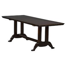 "Long table with ""Shoe base"" in Narra Hardwood"