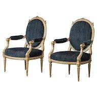 Pair of elegant armchairs, Louis XVI style