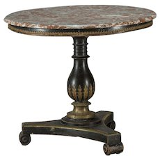 Charles X saloon table with marble top, France 1820.