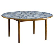 Bjørn Wiinblad tile table, Denmark 1984