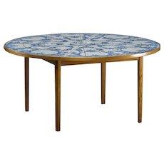 Bjørn Wiinblad tile table, Denmark 1984