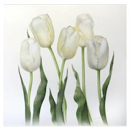 Tulips, Watercolours, signed by artist at RAMSAY