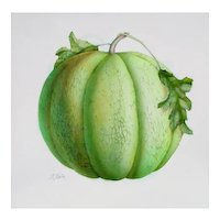 Melon, Watercolour, by S. Bender, signed by artist at RAMSAY