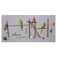 'Parakeet Playground'  by Nicholas Pace