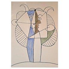 'Faunes et Flore D'Antibes' Au Pont Des Arts, Paris, 1960, After Pablo Picasso (1881 - 1973) available at RAMSAY
