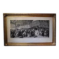 'Paddington Station' 1866, by William Frith in original frame at RAMSAY