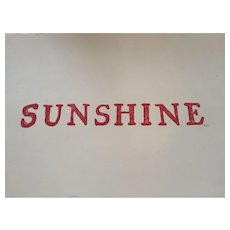 'Sunshine' Lino cut print, signed by artist