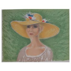'Lady in a straw Hat'