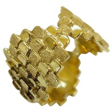 Charles de Temple Gold Band Ring, circa 1970