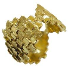 Charles de Temple Gold Band Ring, circa 1970