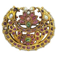 Antique Indian Tikka Pendant Brooch