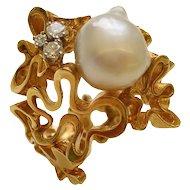 fb01d0ece Kimberly Klosterman · Gilbert Albert South Sea Pearl Diamond Gold Ring
