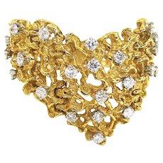Diamond Yellow Gold Bracelet c1970