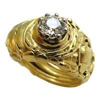 A Diamond Gold Solitare Ring