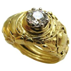 A Diamond Gold Solitare Ring