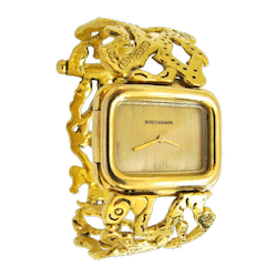 JEAN MAHIE A Rare Lady's Gold Wristwatch