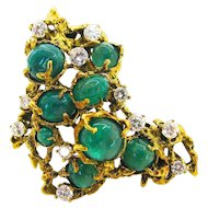 Arthur King Emerald Pendant/Brooch