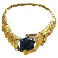 Gilbert Albert Gold And Tanzanite Necklace
