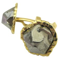 "Cartier Pyrite ""Fools Gold"" Cuff links c1970"