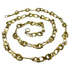 Tiffany and Co. Gold Link Necklace circa 1970
