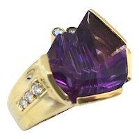 Bernd Munsteiner for H.Stern Amethyst and Diamond Ring