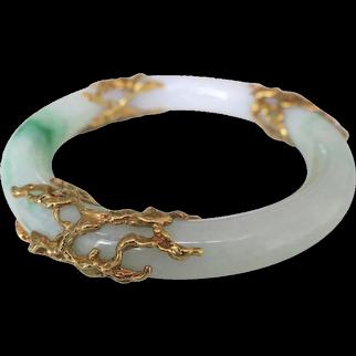 5d340ce6a Arthur King Jade and Gold Bangle Bracelet