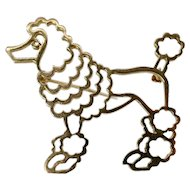 Tiffany & Co. Gold Poodle Pin