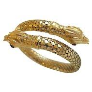 Vintage Gold Serpent Bracelet, 1960s, Italy