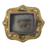Diminutive Antique Lovers Eye Pin 19th Century