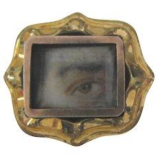 Diminutive Antique Lovers Eye Pin 19th Century