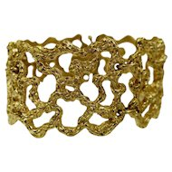Cellino Freeform Gold Modernist Bracelet Circa 1970