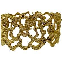 Cellino Freeform Gold Modernist Bracelet Circa 1970