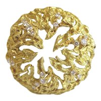 Chaumet Gold and Diamond Pendant/Brooch, 1970s