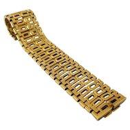 1970s Italian Modernist Reversible Gold Link Bracelet