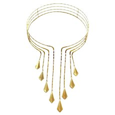 Chimento Gold Choker Necklace, circa 1990