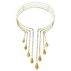 Chimento Gold Choker Necklace, circa 1990