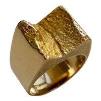 Vintage Bjorn Weckstrom Gold Ring, 1972