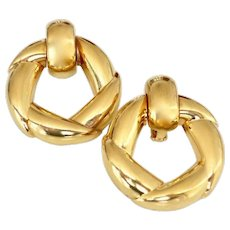 Vintage Cartier Gold Door-Knocker Earrings