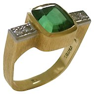 Andrew Grima Tourmaline Diamond Gold Ring