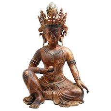 Bronze Gilded Figure of a Guanyin