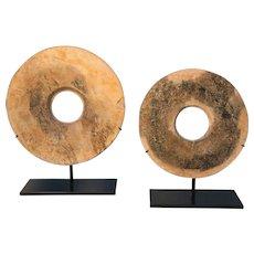 Pair of Neolithic Bi-Rings