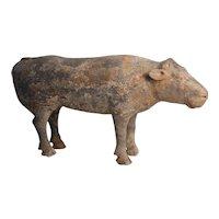 Han Dynasty Terracotta Figure of a Cow