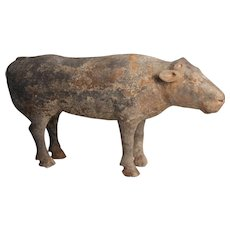 Han Dynasty Terracotta Figure of a Cow