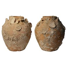 Pair of Sukhothai Shipwreck Vases