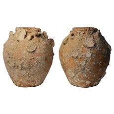 Pair of Sukhothai Shipwreck Vases