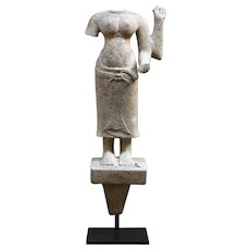 Sandstone Figure of a Goddess