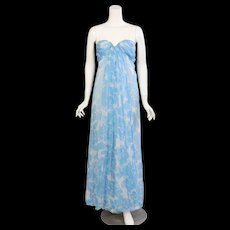 Givenchy Haute Couture Strapless Silk Chiffon Dress & Shawl