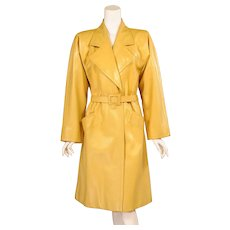 Givenchy Haute Couture Runway Worn Yellow Leather Coat