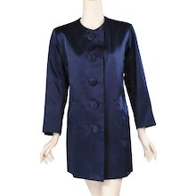 Yves Saint Laurent Numbered Haute Couture Satin Evening Jacket