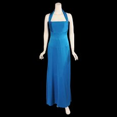 Yves Saint Laurent Haute Couture Silk Halter Evening Dress